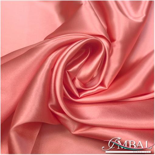 Шелк атласный стрейч высокого качества кораллового цвета