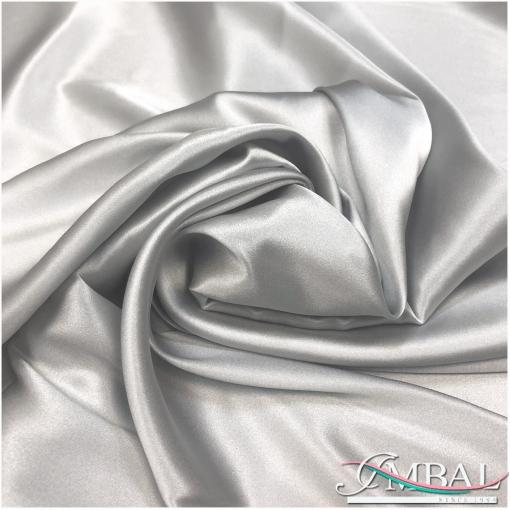Шелк атласный стрейч высокого качества жемчужно-серебристого цвета