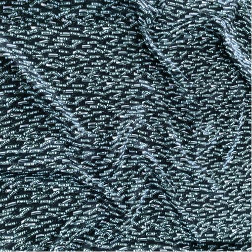 Шелк атлас принт Zilli в сине-голубых тонах