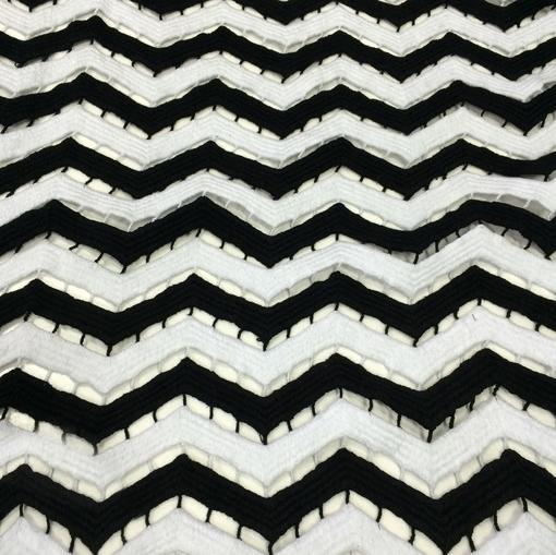 Missoni плотный чёрно-белый хлопок вышивка зигзаги