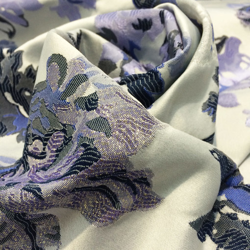 Жаккард нарядный Alberta Ferretti сиреневые цветы