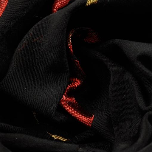 Черный жаккард купон из красных маков