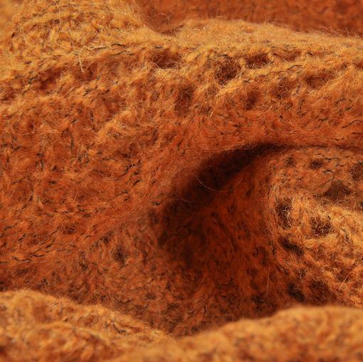 Шерстяное кружево горчичного цвета