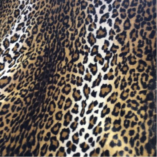 Мех искусственный средневорсовый под леопард