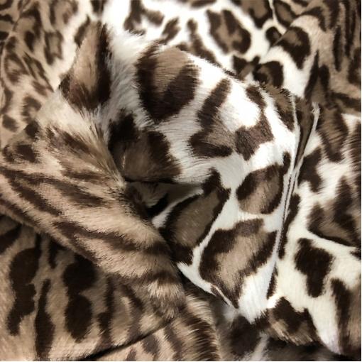 Мех искусственный гладкошерстный под леопард на хлопковой основе