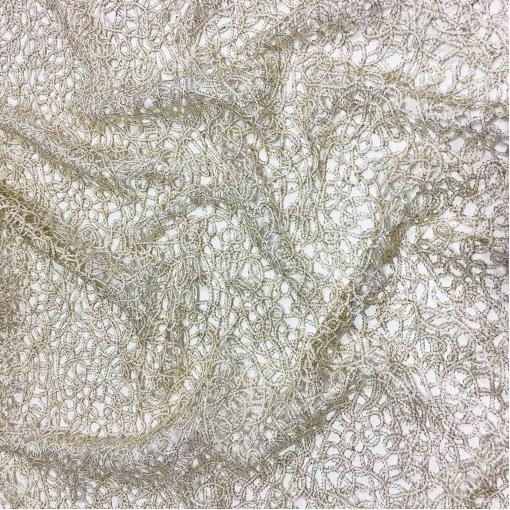 Ткань оригинальная нарядная Louis Vuitton в виде золотистых цепочек