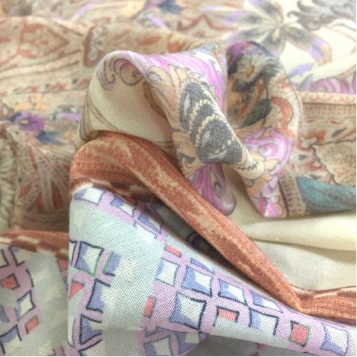 Шерсть с шелком принт ETRO купон нежная абстракция
