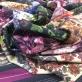 Ткань шерстяная плательная принт ETRO купон с букетами астр