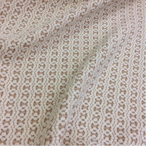 Ткань пальтовая фактурная принт Armani бежево-песочные узоры