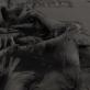 Ткань шерстяная Valentino мягкая с бахромой для шарфа черного цвета