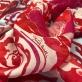Шелк шифон принт Roberto Cavalli красно-малиновые цветы