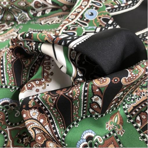 Шелк твил принт ETRO платки в зелено-охристой гамме