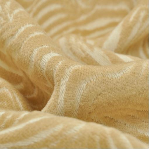 Стильная пальтовая ткань золотисто-песочного цвета
