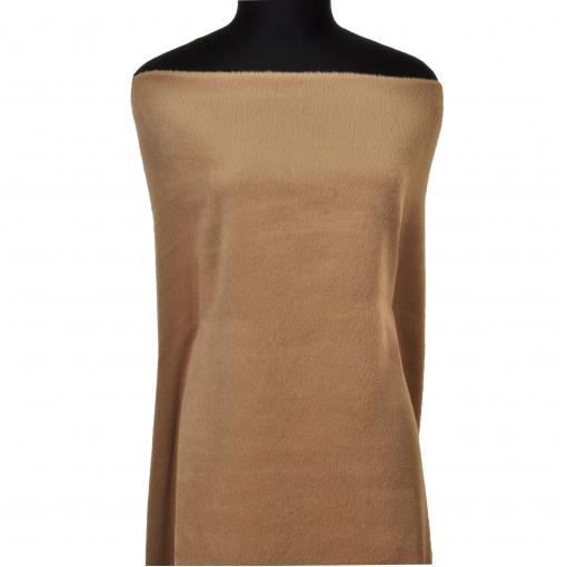 Пальтовая ткань песочно-бежевого цвета с небольшим ворсом