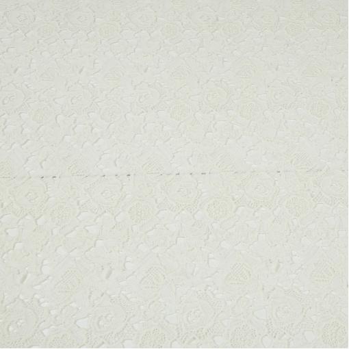 Нарядное хлопковое кружево ванильно-белое