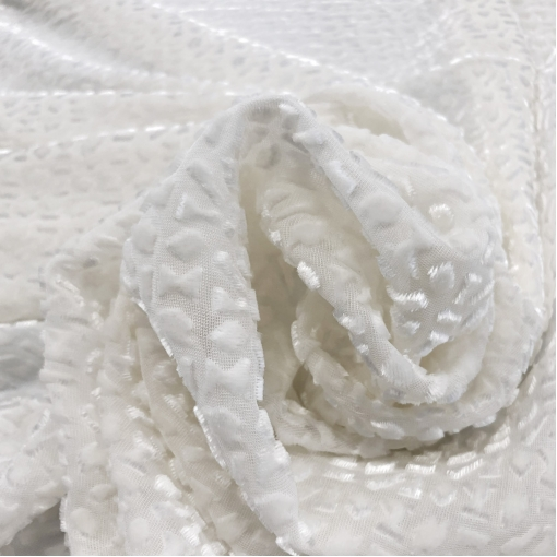 Панбархат на шелковой основе Valentino деворе молочного цвета