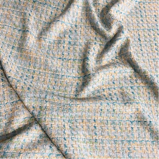 Шанель нарядная хлопковая с элегантной люрексовой нитью в голубых тонах