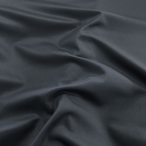 Ткань пальтовая с кашемиром дизайн Max Mara темно-синего цвета с отливом