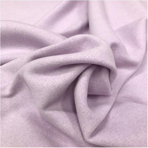 Ткань пальтовая шерсть с кашемиром double face нежно-сиреневого цвета