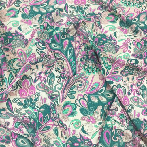 Шерсть плательная принт Pucci в розовых тонах