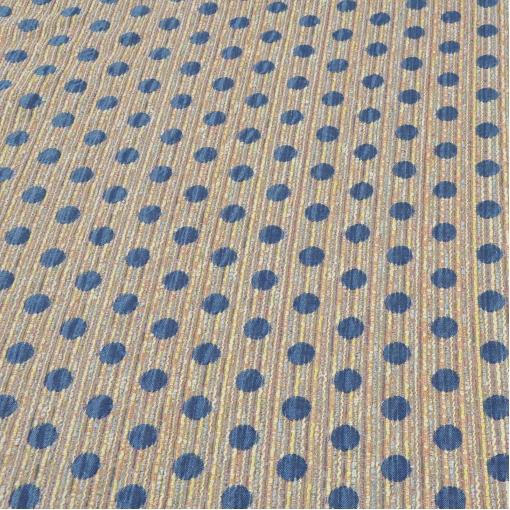 Хлопок пальтово-костюмный, расцветка – крупный синий горох