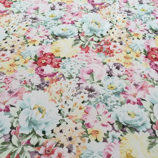 Шелк креп акварельные цветы принт Alberta Ferretti