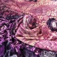 Панбархат вискозный на шелковой основе дизайн Armani купон сиренево-розовый леопард