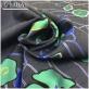 Шелк с хлопком тафта принт Armani купон стилизованные цветы на сером фоне