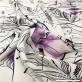 Шелк матовый нежный стрейч принт Kenzo граффити с лепестками на молочном фоне