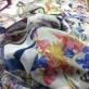 Шелк шифон принт Ferragamo стилизованные бабочки на молочном фоне