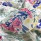 Шелк деворе принт Blumarine с бархатом и люрексом букетики на молочном фоне
