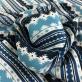 Шелк матовый принт Missoni узоры в голубых тонах