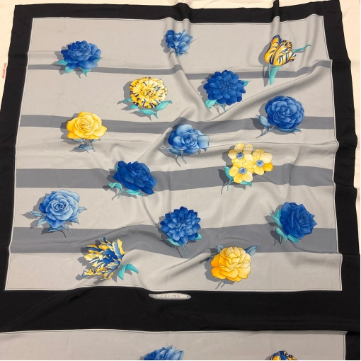 Шелк купонный платки принт Celine абстрактные цветы