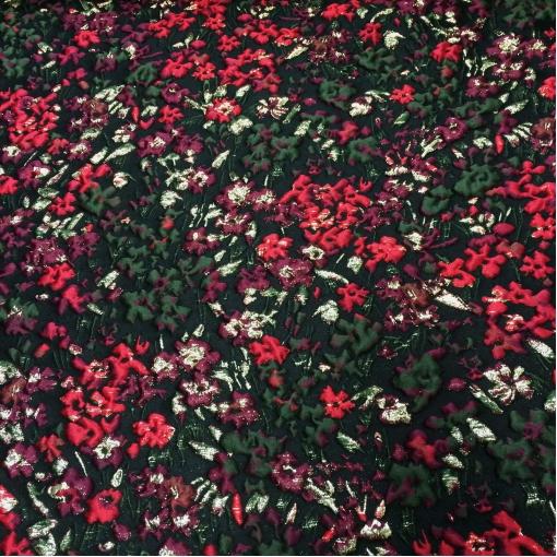 Жаккард принт Maurice Lacroix мелкие цветы с люрексом