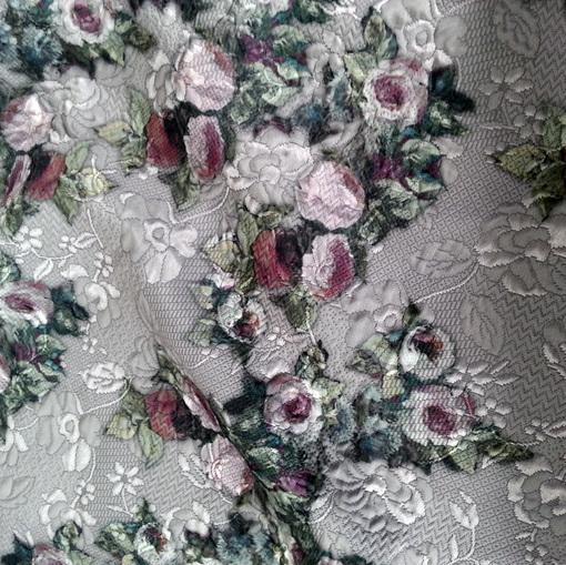 Пальтово-костюмный объемный жаккард бежевого цвета D&G