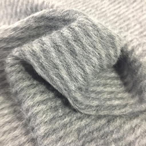 Ткань пальтовая с альпакой Bottega Veneta серая диагональ