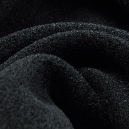 Пальтовая черно-зеленая ткань с альпакой и небольшим ворсом