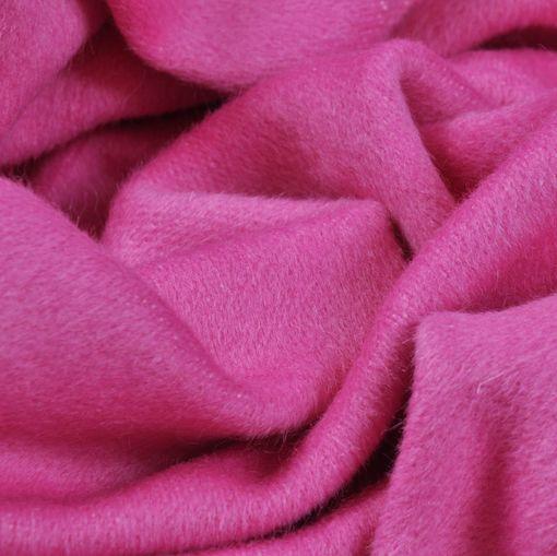 Пальтовая ярко-розовая с седым отливом ткань с кашемиром