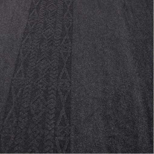 Пальтовая серая шерсть с небольшим светлым ворсом и выстриженным купоном