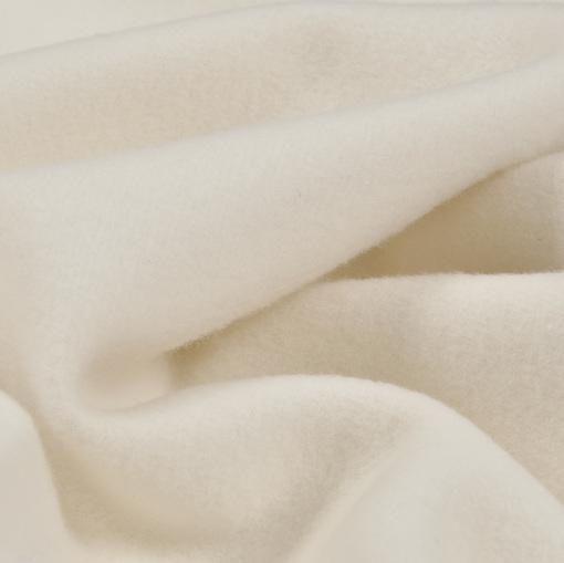 Молочная мягкая гладкая пальтовая шерсть