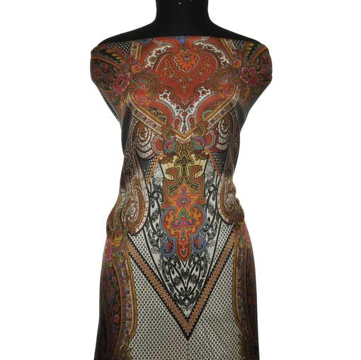 Шелк атлас Haute Couture красный турецкий огурец