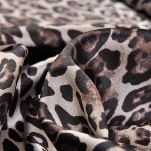 Шелк стрейч леопард