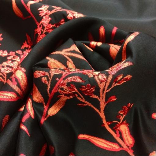 Органза шелковая дизайн Kenzo тканый цветочный купон с люрексом