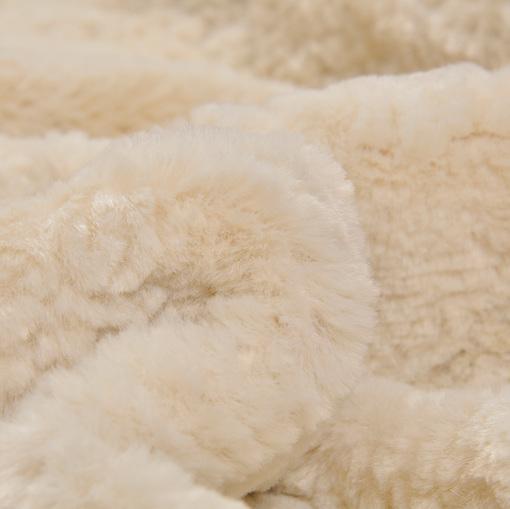 Искусственный мех Tissavel молочного цвета