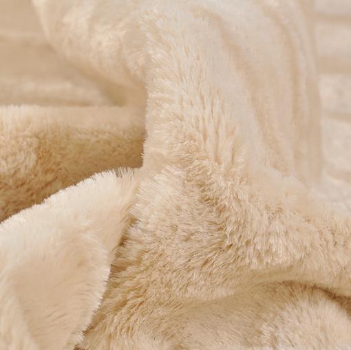Искусственный мех Tissavel светло-бежевого цвета