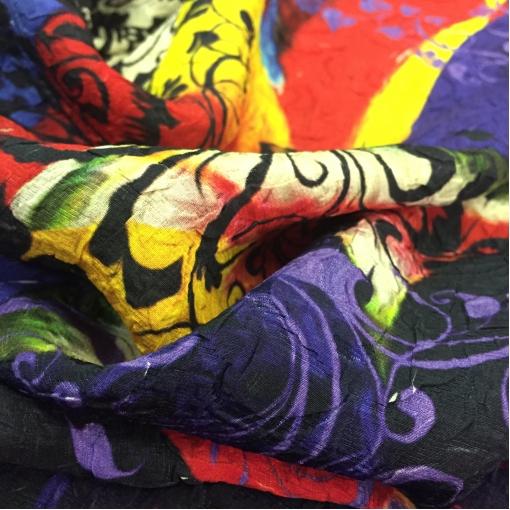 Шелковый жаккард A.Aspesi 3D абстракция в сиреневых тонах