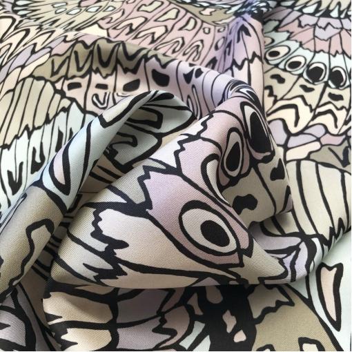 Шелк твил принт Naeem Khan имитация крыльев бабочек