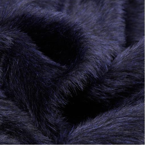 Пальтовая сине-черная ворсовая пальтовая ткань