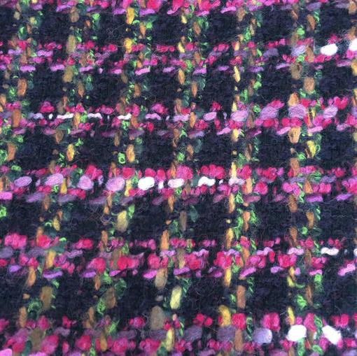 Шанель нарядная черно-сиреневая клетка