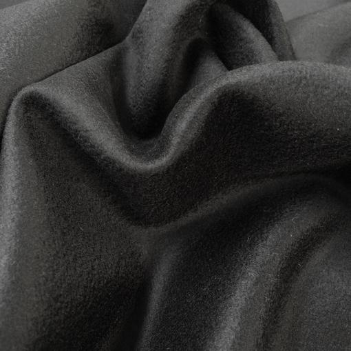 Ткань пальтовая с кашемиром черного цвета